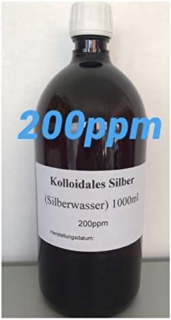 Kolloidales Silber (Silberwasser) 1000 ml, hochrein, hochkonzentriert: 200 ppm!