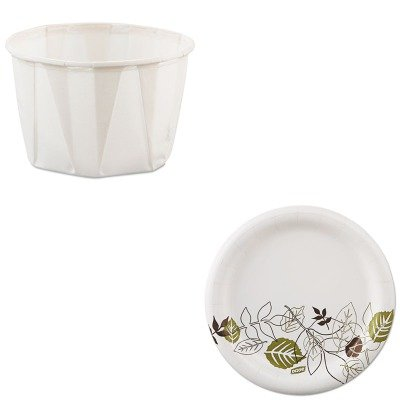 KITDXEUX7WSPKSLO200 - Value Kit - Dixie Pathways Mediumweight Paper Plates (DXEUX7WSPK) and Solo Paper Portion Cups (SLO200) by Dixie