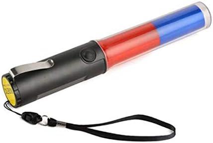Mastiff M260br Traffic Control Magnet Multifunctional 3xaa Blue Red Light 3-Mode Flashlight LED Lamp Torch Signal Lightbar Wand Safety Beacon