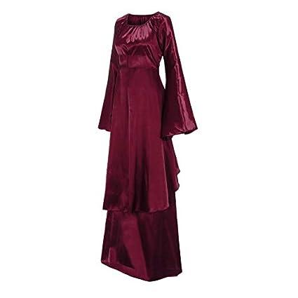 Mujer Vestido Invierno gótico, Sonnena Retro Vestido para Mujer ...