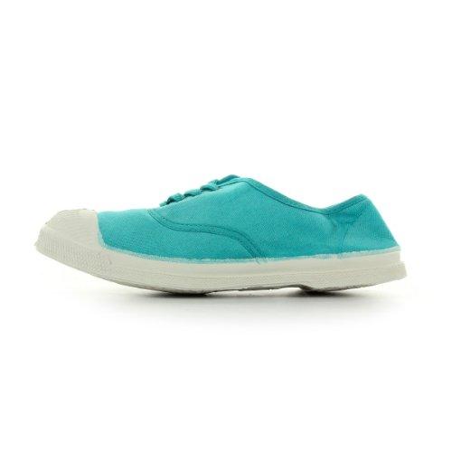 Bensimon Tennis Lacet - Zapatos de cordones Mujer Bleu Turquoise Et Blanc