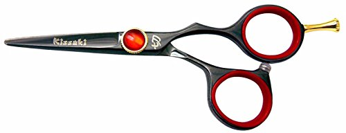 Kissaki Hair Scissors Kogai 4.5'' Black Titanium Hair Cutting Shears Hairdressing Scissors by Kissaki