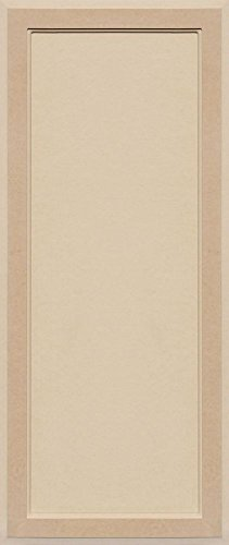 Unfinished MDF Square Flat Panel Cabinet Door by Kendor, 38H x 16W (Best Wood Putty For Mdf)