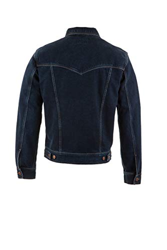 705 Authentic Uomo Jacket Wrangler Giacca Di Jeans Black Western Blue pwapzMIOxq