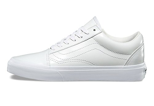 Vans Old Skool Zip Dx Para Hombre 8 Para Mujer 9.5 Smooth Leather True White Skateboard Zapatos
