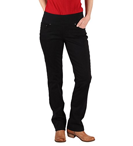 Jag Jeans Women's Peri Straight Pull On Jean, Black Twill, - Fit Classic Jeans Bay
