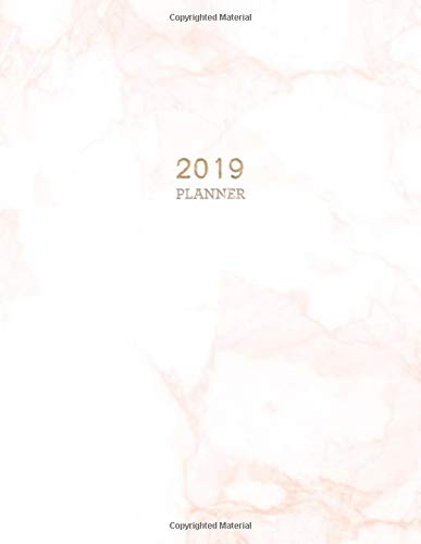 2019 Planner: Marble Weekly Monthly Planner | Motivational ...