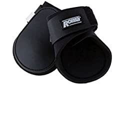 Roma Contoured Fetlock Boots Black Full