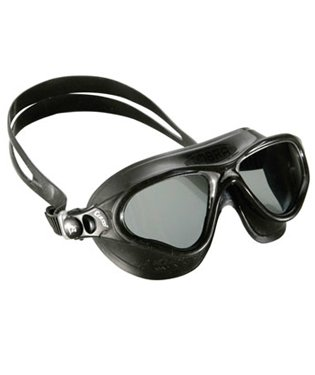 Cobra One Piece - Cressi Swim Cobra Mask UV Protective Silicone Swimming Goggles (Black w/Tinted Lens)