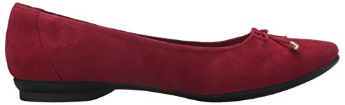 Clarks Mujeres Candra Light Flat Red Suede