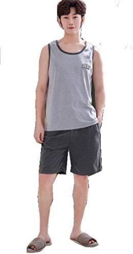 メンズ パジャマ 袖なし 夏 純綿 パジャマスーツ 薄手 カジュアル ゆったり 大きいサイズ ベスト ショートパンツ ルームウェア