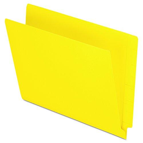 Cut Folder Reinforced Tab Full (Pendaflex Colour End Tab Folders, Full Tab, Letter Size, Yellow, 100 per Box (H110DY))