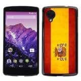Shell-Star ( National Flag Series-Spain ) Snap On Hard Protective Case For LG Google NEXUS 5 / E980