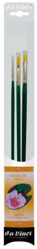 da Vinci Oil & Acrylic Series 5276 Nova Synthetic Paint Brush Set, Multiple Sizes, 3 Brushes (Series 1670, 1870, and 1875) (Vinci Nova Da)