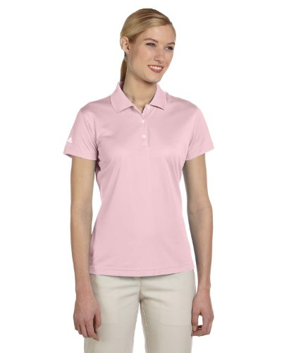 adidas Golf Ladies ClimaLite Pique Short-Sleeve Polo - Tea Rose A131 L