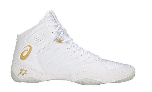 ASICS JB Elite III Men's Wrestling Shoes, White/Rich Gold, Size 12.5 by ASICS