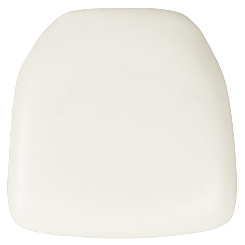Banquet Tables Pro 4 Pack Wood Backed Chiavari Chair Cushions, Pads for Chiavari Chairs (White) by Banquet Tables Pro