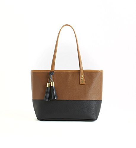 cinda-b-luxe-small-london-tote-mod-tortoise-one-size