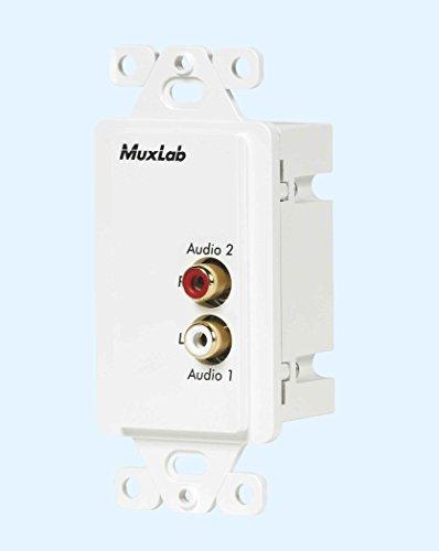 MuxLabs Stereo Audio Balun Wall Plate with L/R RCA ()