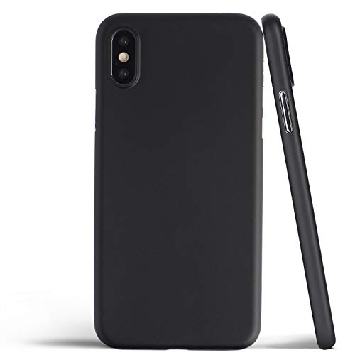 totallee Thin iPhone Xs Case, Thinnest Cover Ultra Slim Minimal - for Apple iPhone Xs (2018) (Solid Black)