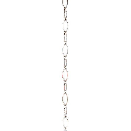 Brass Picture Polished Steel Light - RCH Hardware CH-S57-33-PN-3 | 9 Gauge Decorative Solid Steel Motif Link Fixture Chain | 3 Foot Increments |Polished Nickel Finish