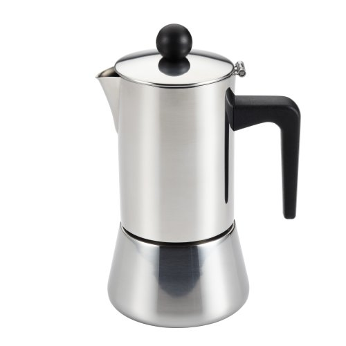 Bonjour 4-Cup Espresso Maker Stainless Steel 53916