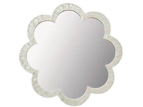 KOUBOO Flower Capiz Seashell Wall Mirror, Natural -