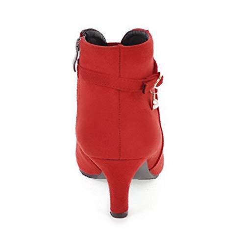 Spillo Spillo A Autunno Autunno KUKI Scamosciata Alto Stivali Pearl Tacco Stivali Donna Stivali Scarpe Dimensioni Red Grandi Appuntite Donna Zdnx6wnU