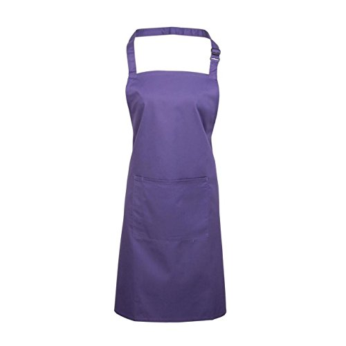 Top Donna Premier Colours Workwear Bib Purple Apron with Pocket wxUzY0xn