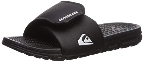 Quiksilver Boys' Shoreline Adjust Youth Sandal, Black/White/Black, 12(29) M US Little Kid