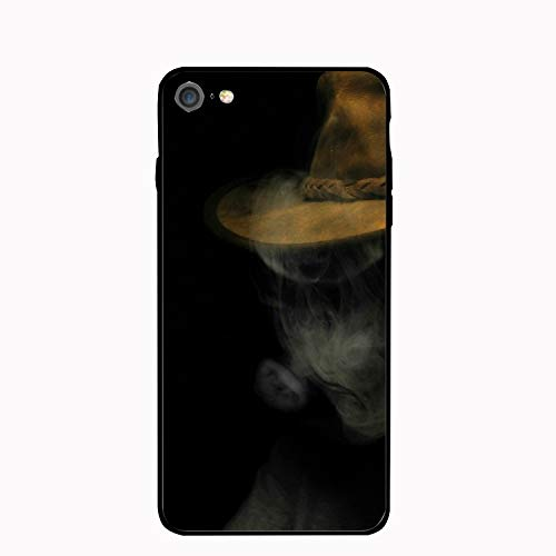 iPhone 7 Case,iPhone 8 Case,Personalized Scary Halloween Floral Print PC Cellphone case -