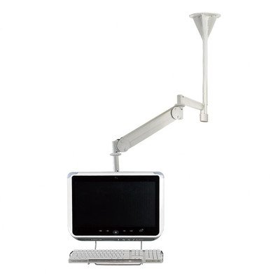 Long Reach LCD Ceiling Mount with Front Keyboard Holder