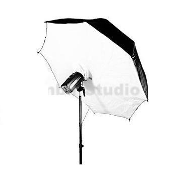 ack/White Reflective Umbrella Brolly Box Softbox Diffuser for Alienbees, Balcar, Bowens, Elinchrom, Hensel, Photogenic, Norman, White Lightning, Flash Broncolor, Pulso, Broncolor Impact, Visatec, Speedotron, Smith Victor Strobe Flash Light (Speedotron Umbrella)