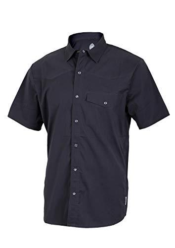 (Club Ride Apparel Mag 7 Biking Shirt - Men's Short Sleeve Cycling Jersey - Black - XXL)