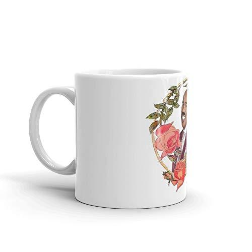Steve Harvey - Red Roses Frame. 11 Oz Ceramic Coffee Mugs With C-shape Handle, Comfortable To Hold. 11 Oz Fine Ceramic Mug With Flawless Glaze Finish