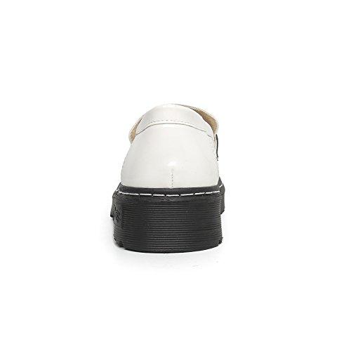 Sneakers Chaussures Enfiler Femme De 43 34 Ville Baskets Mocassins Cuir Plateforme Antidérapantes Confortable Blanc Jrenok Mode dx5zR4Wdw