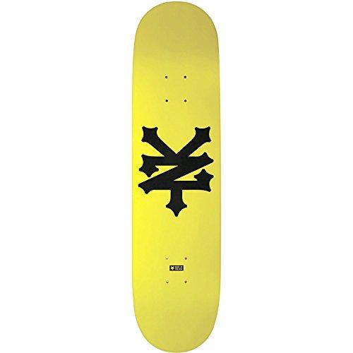 Zoo York Skate Decks (Zoo Big Cracker Deck -7.8 Taxi Yellow Assembled as COMPLETE Skateboard)