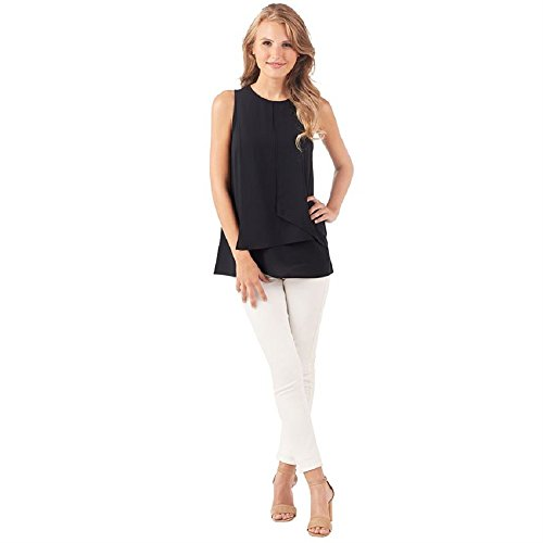 (Mud Pie Raleigh Medium Womens Sleeveless Top In Black)
