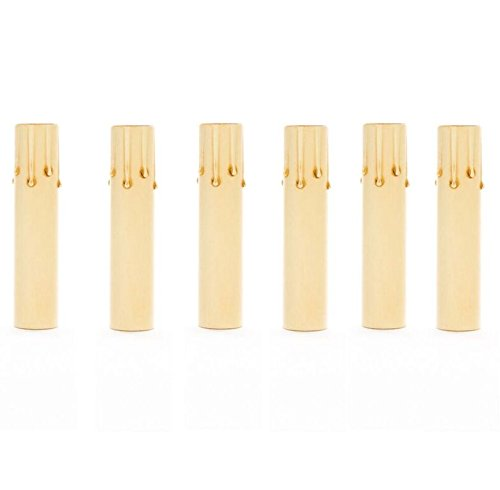 (Upgradelights Ivory Fibre Drip 6 Inch Candle Socket Covers (Set of 6))