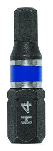 IRWIN 1899815 Impact Performance Series Screwdriver Insert Bit, 4mm Hex, 1-Inch, 25-Pack