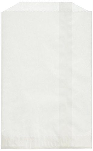 Heartfelt Hospitality Flat Medium Glassine Wax Paper Bags (100 Pack), 4.5 X 6.75, White