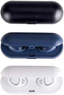 Chennong ワイヤレスBluetooth 5.0ヘッドフォン(充電ケース付き)ステレオサウンド品質ノイズキャンセリングイヤホンぴったりデザイン (Color : Black)