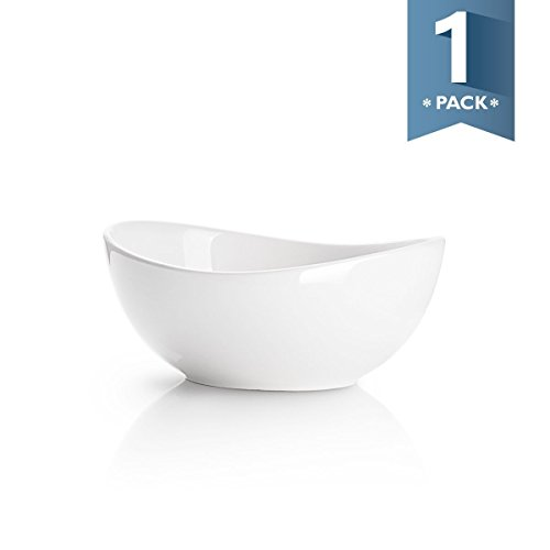 Sweese 1105 Porcelain Bowl - 28 Ounce for Cereal, Salad and Desserts, White