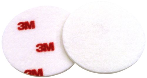 3M Finesse-it Buffing Pad 09357, Hook and Loop Attachment, 3'' Diameter, Red/White (Pack of 500) by 3M