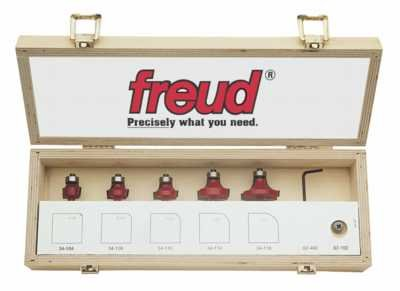 - Freud 89-102 5-Piece Round Over and Beading Router Bit Set