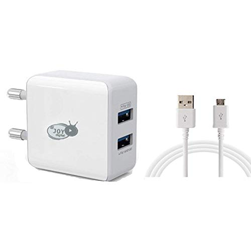 Perfectel High Speed Heavy Duty Fast Charger 2 USB Fast Mobile Charger Adaptor 2.4 AMPS for All Smart Phones EZ238