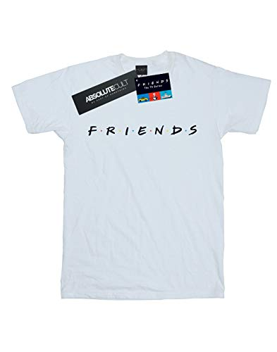Absolute Cult Logo Hombre Blanco Friends Camiseta Texto 0pRqnvwdx