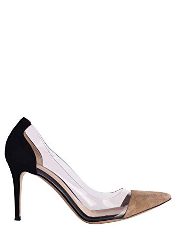 Gianvito Rossi Womens Black Brown Suede Transparent Pumps IT38.5/US8.5~RTL$815 ()