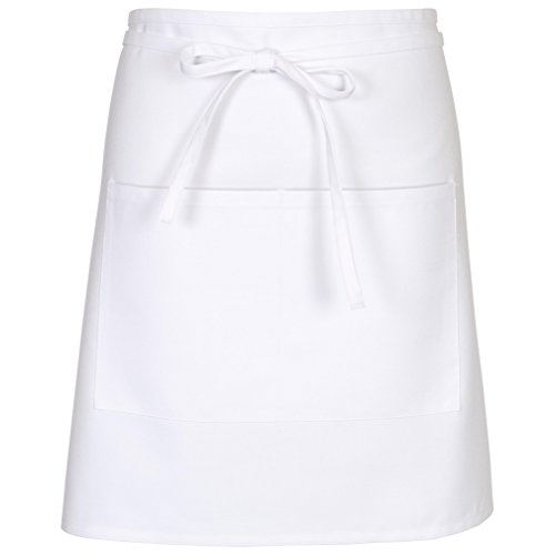 Chef Works Mens Half Bistro Server Apron, White, 19-Inch Length by 30-Inch Width by Chef Works