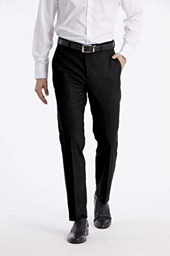 - Calvin Klein Men's X Performance Slim Fit Flat Front Dress Pant, Black, 33W x 34L
